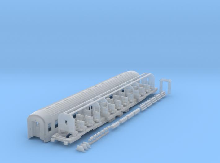 DSB class Bn coach N scale 3d printed