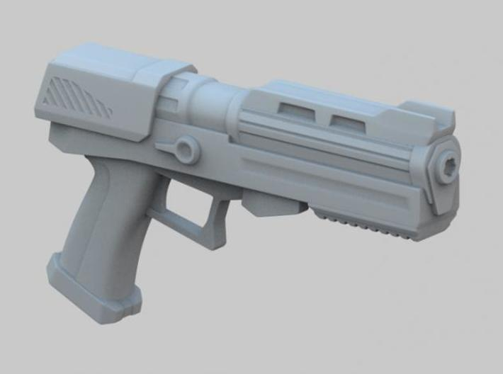Heavy Plasma Pistol 3d printed Perspective View