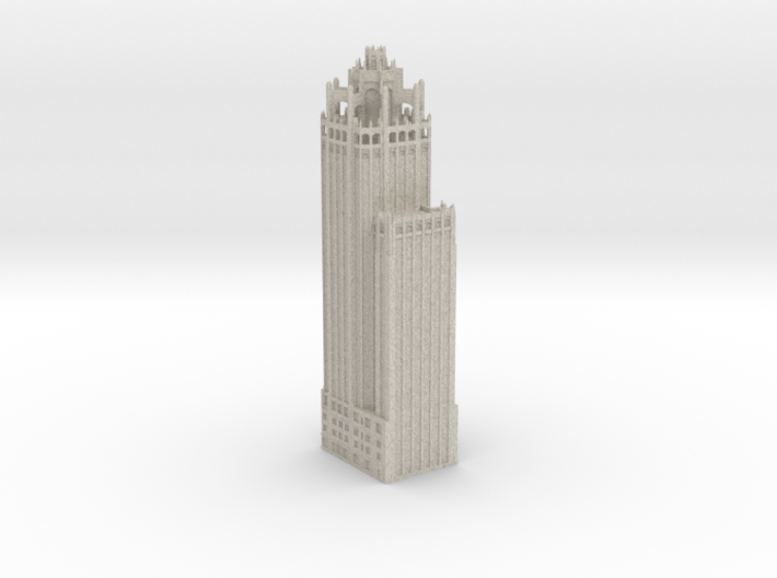 Tribune Tower (1:600 Scale) 3d printed