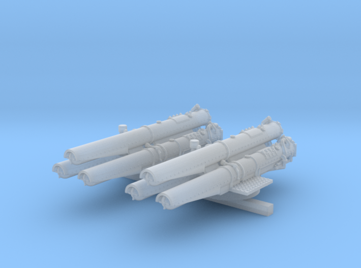 "1/350 V & W Class Destroyer Triple 21"" Tubes x2 3d printed 1/350 V & W Class Destroyer Triple 21"" Tubes x2"