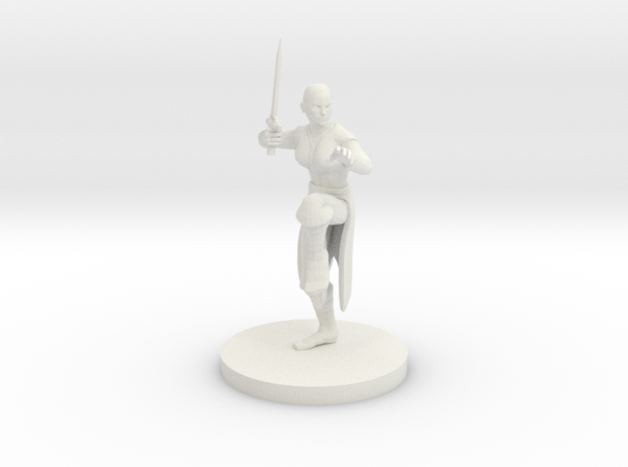 Female Sword Monk 3d printed