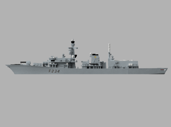 1/1800 HMS Iron_Duke 3d printed Computer software render.The actual model is not full color.