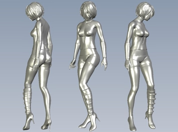 1/35 scale sexy girl on high heels figure A 3d printed