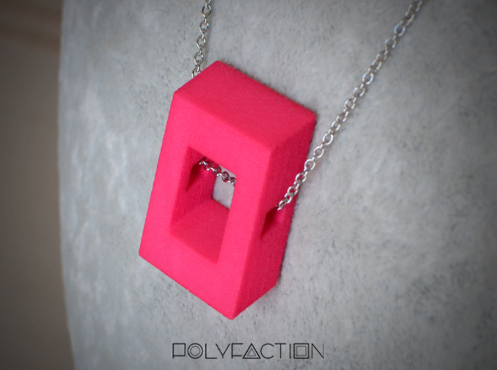 40 Degree ::: Square Pendant ::: v.01 3d printed