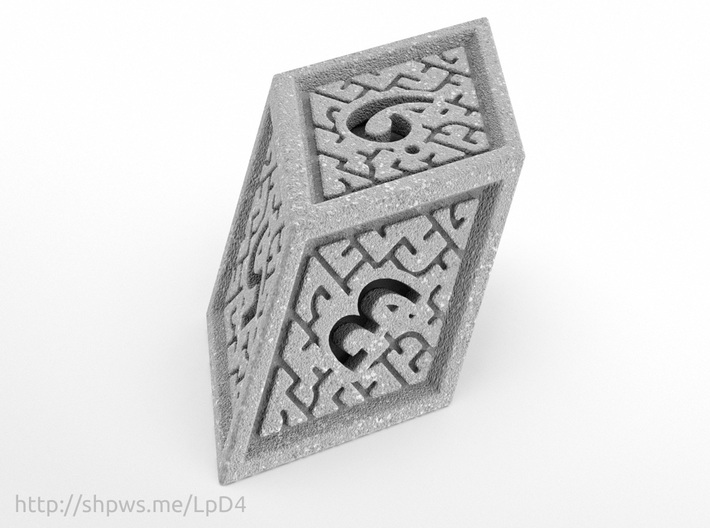Hedron D6 (Solid), balanced gaming die 3d printed