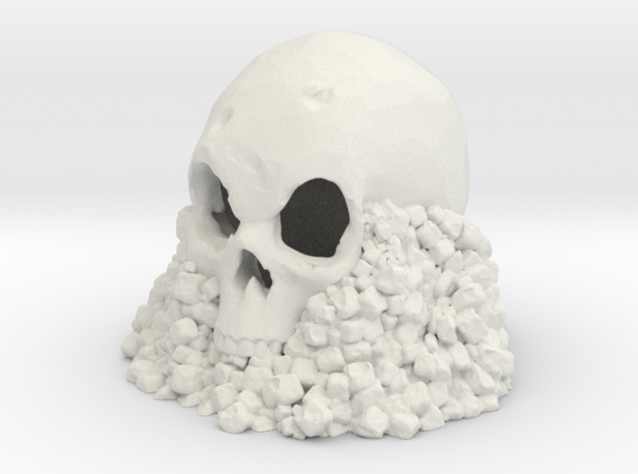 Skull on Rocks 3d printed
