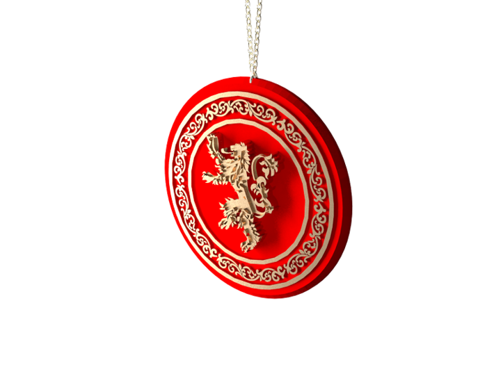 Game of Thrones Lannister Lion Pendant Necklace 3d printed