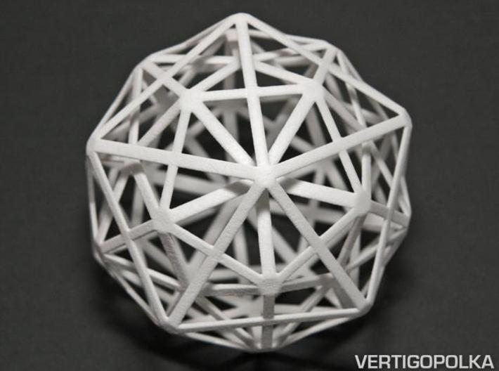 1st Stellation of an Icosidodecahedron 3d printed 1st Stellation of an Icosidodecahedron WSF