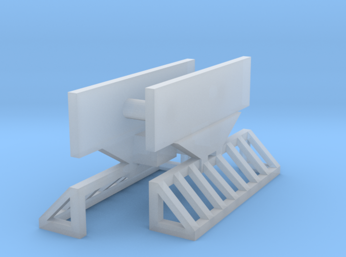 "HOn30 Tomytec railcar coupler mounting - ""square"" 3d printed"