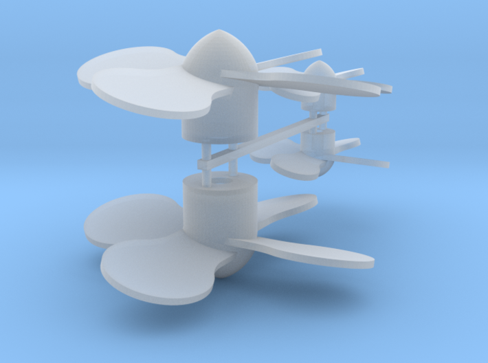 various_propeller_4ea 3d printed