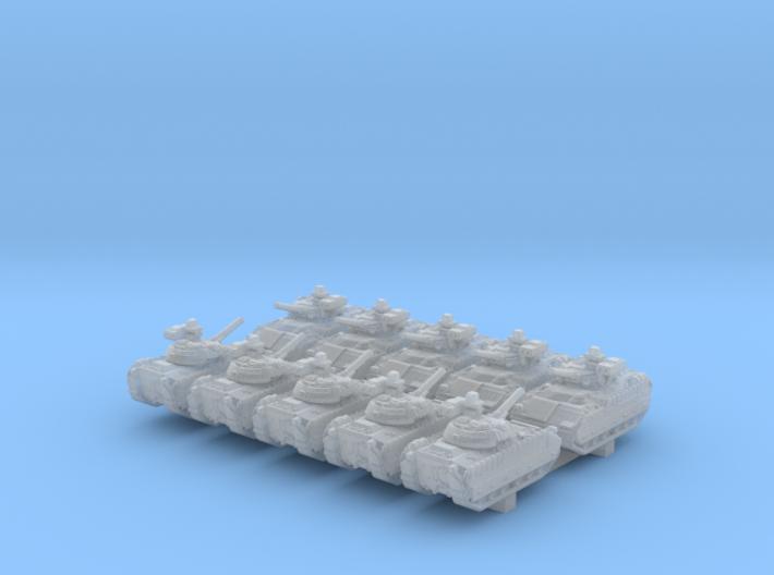 1/600 US M2A3 Bradley APC 20º Barrel x10 3d printed 1/600 US M2A3 Bradley APC 20º Barrel x10