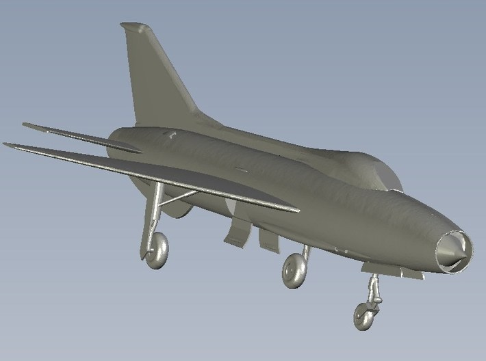 1/87 scale Mikoyan Gurevich MiG-21 Fishbed C model 3d printed