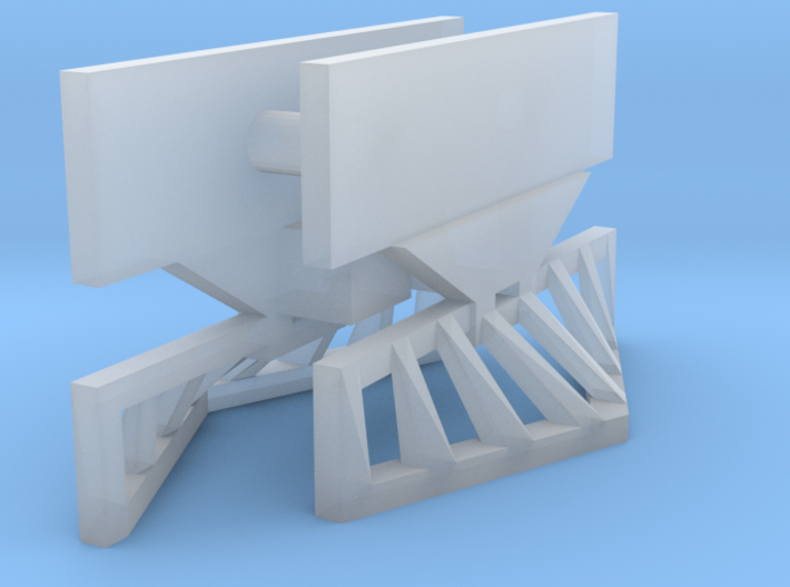 "HOn30 Tomytec railcar coupler mounting - ""V"" pilot 3d printed"