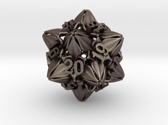 Floral Dice – D20 Spindown Life Counter die 3d printed