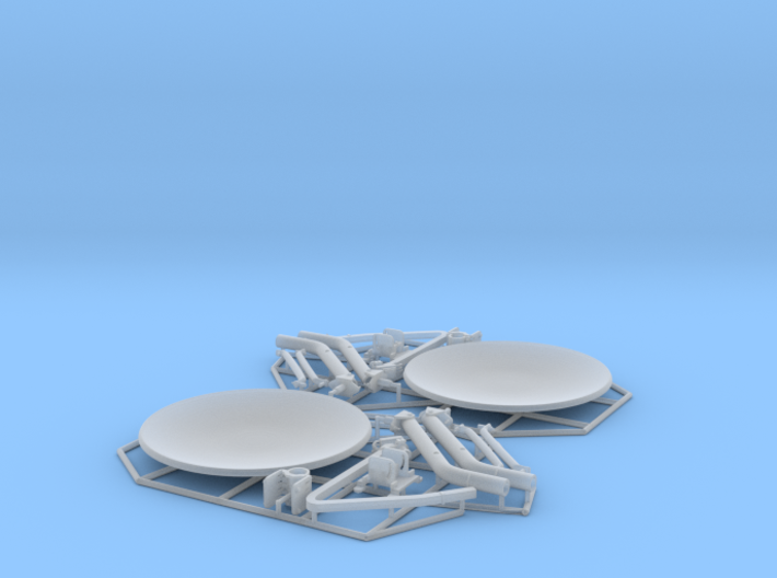 Satellite dish (30mm) - double pack 3d printed