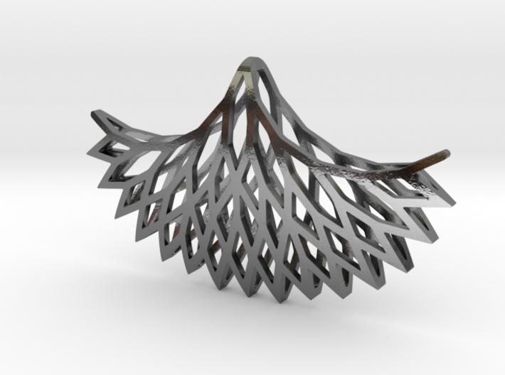 Geometric tree branches pendant 3d printed