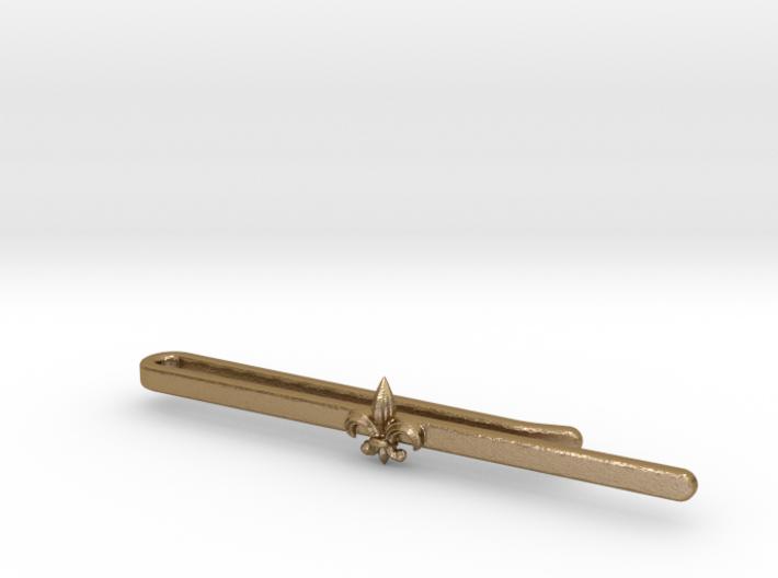 Tie clip_Fleur de lis 3d printed