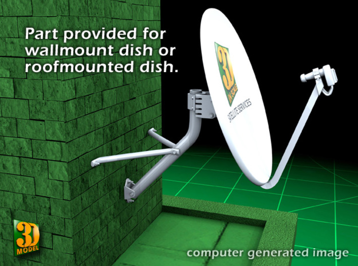 Satellite dish (30+60mm) - combo 3d printed Satellite combo (30+60mm) - 30mm - wall mount