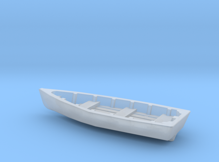 Wooden RowBoat N Scale 3d printed