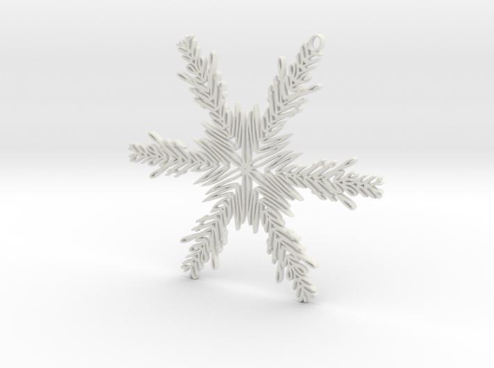 Matthew snowflake ornament 3d printed