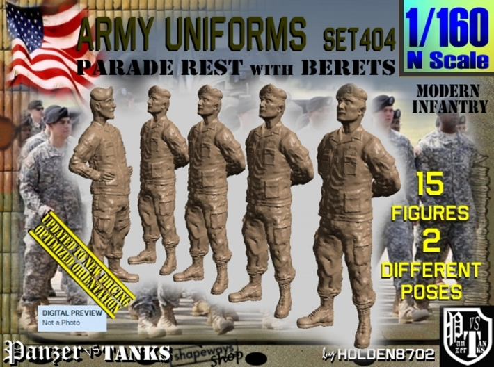 1/160 Modern Uniforms Set404 3d printed