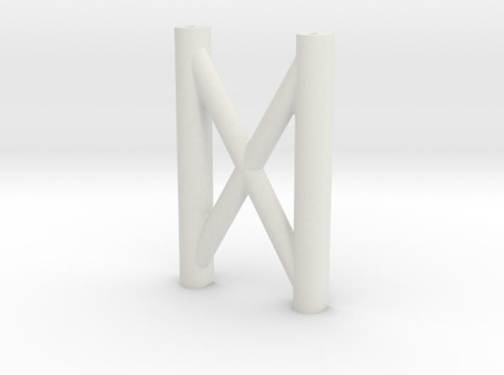 SCX10 H-Brace (Rear Cross Brace) 3d printed