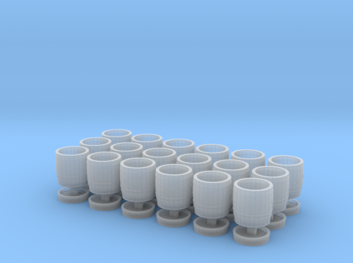 18 wooden barrels N scale 3d printed