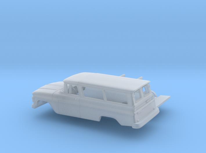 1/87 1962 Chevrolet Suburban Split Doors Kit 3d printed