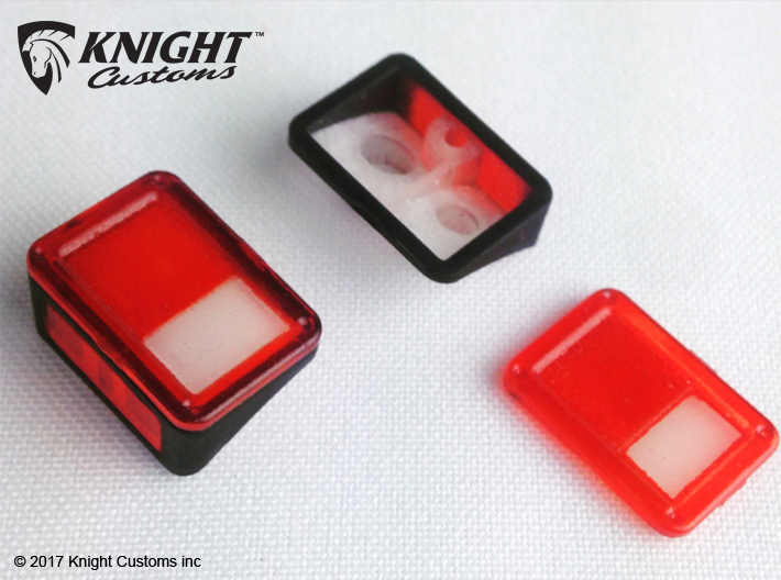 AJ10019 Rear lights JK 3d printed Parts shown painted. 5mm and 3mm LED's can be installed.