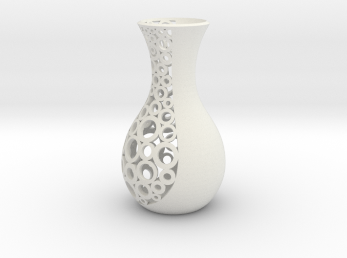 small open patterned vase 1 3d printed