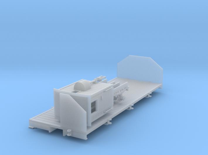 0m Flat wagon w brake cab 3d printed