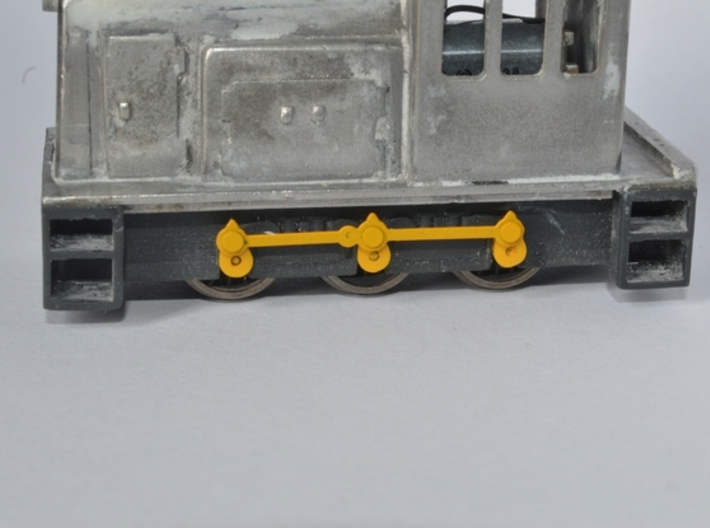 GE sideframes and buffers for Five79 kits 3d printed
