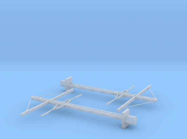 SNCF 1500V DC Catenary (Caténaires) Poles X2 Doubl 3d printed