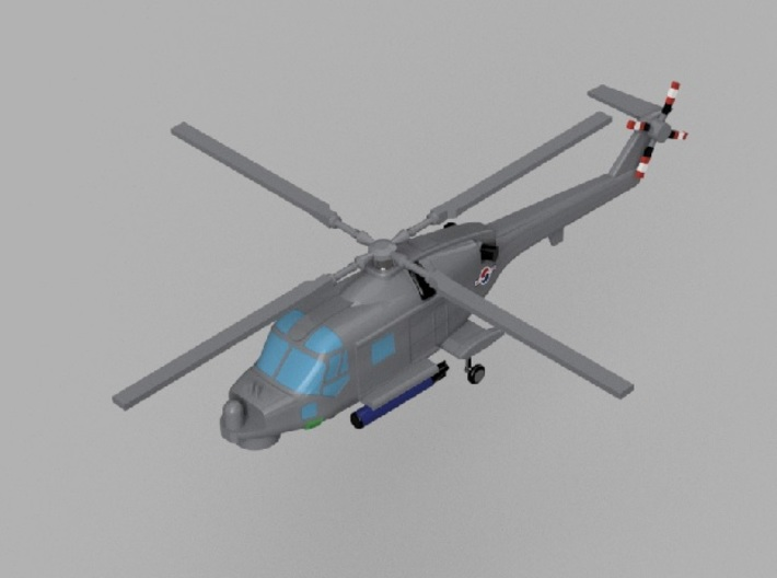 1/2000 Korean Navy aircraft set No.1 3d printed Super Lynx Mk.99.Computer software render.The actual model is not full color. Not exactly same for 1/2000 model.