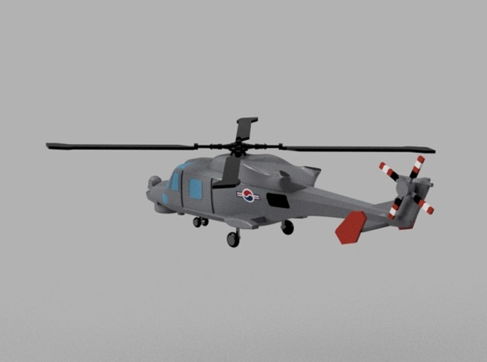 1/1800 Korean Navy aircraft set No.1 3d printed AW159 Wildcat.Computer software render.The actual model is not full color. Not exactly same for 1/1800 model.