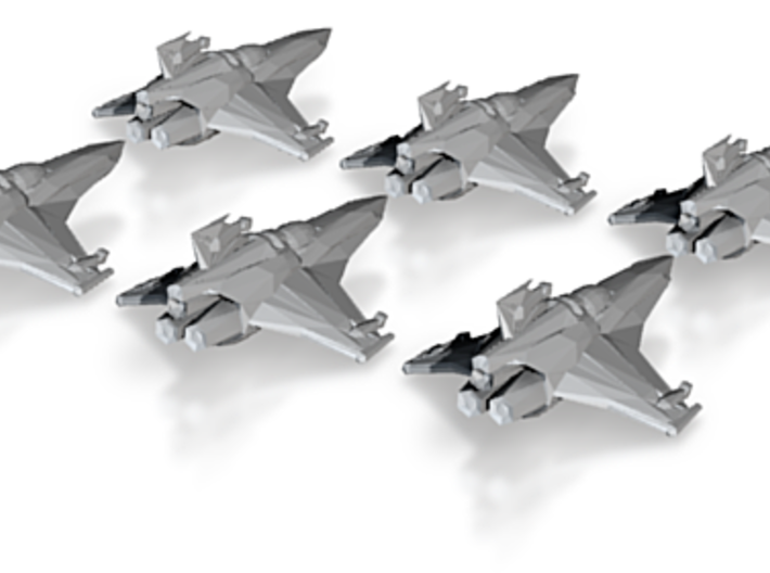 Colonial Viper MkVII 12mm Squadron pack 3d printed