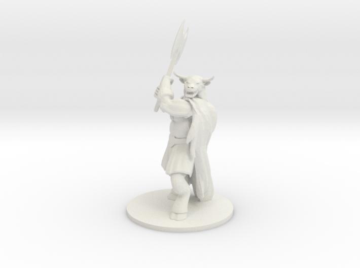 Minotaur Male Barbarian 3d printed