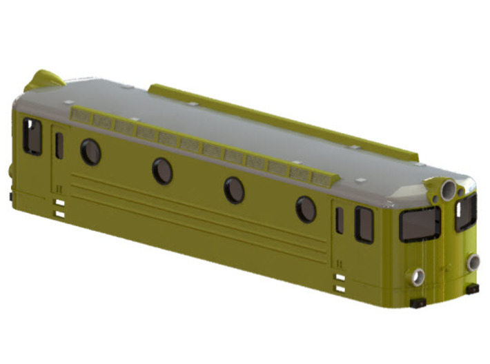 Swedish TGOJ electric locomotive type Bt - N-scale 3d printed CAD-model