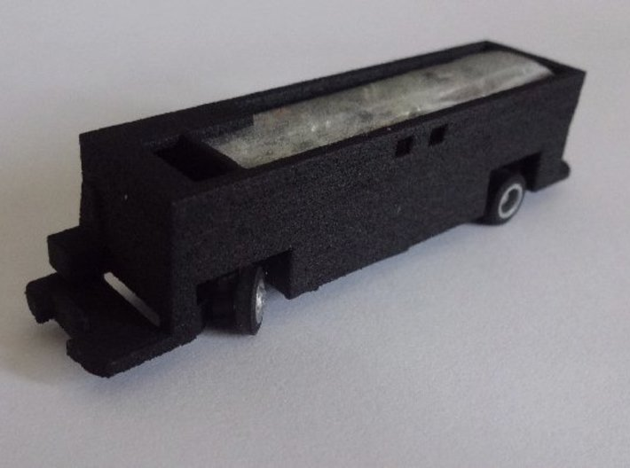 Interface for Tomytec chassis with New Routemaster 3d printed Chassis installed in interface