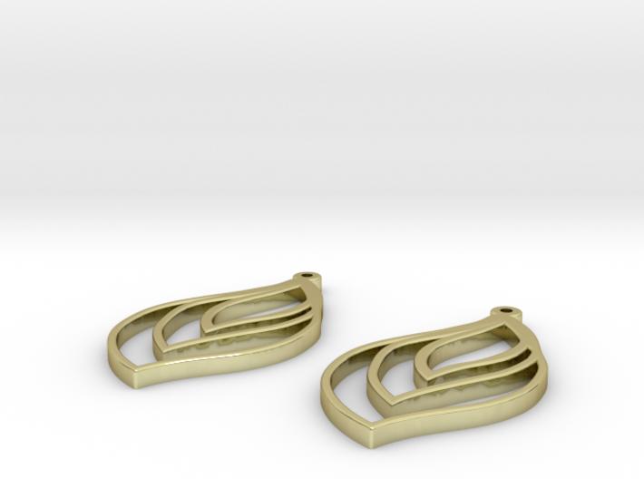 flame earrings 3d printed