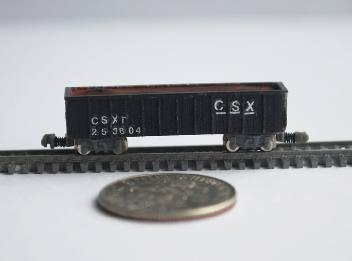 T Gauge 8 Hopper Car Set 3d printed