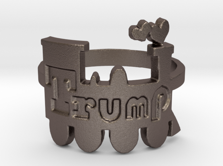 Trump Train Ring 3d printed