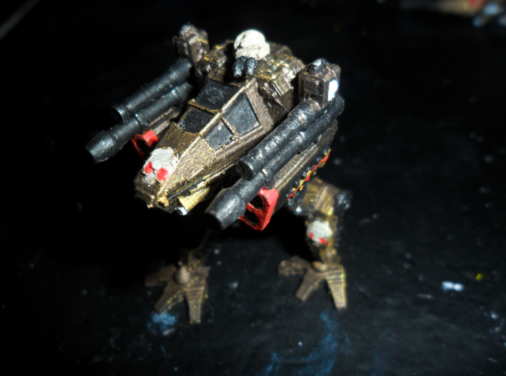 MG144-Aotrs18 Storm Cleaver Assault Strider 3d printed Replicator 2 prototype (WSF top turret)