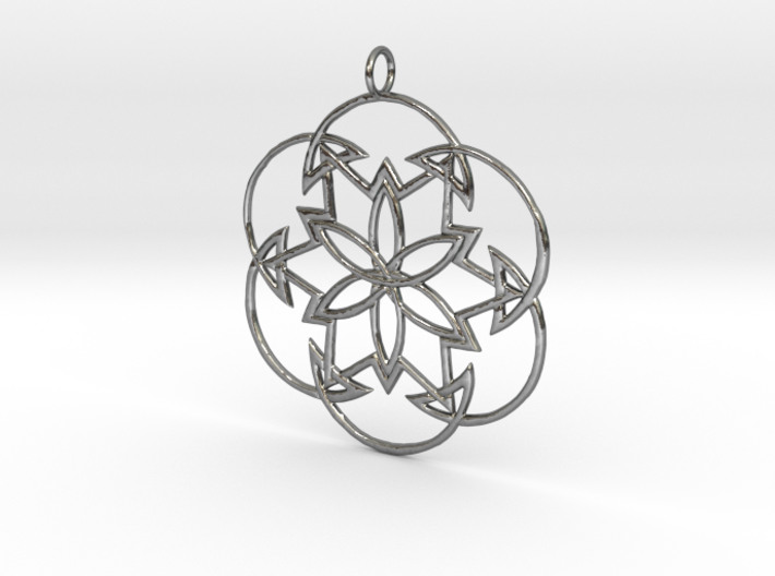 Cosmos Knot Pendant 3d printed