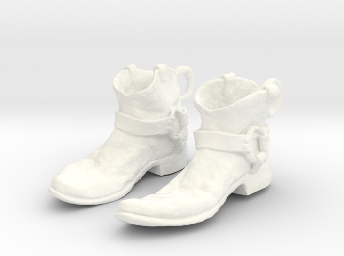 Sculpted Cowboy Boots for Earings Hardware Not Inc 3d printed