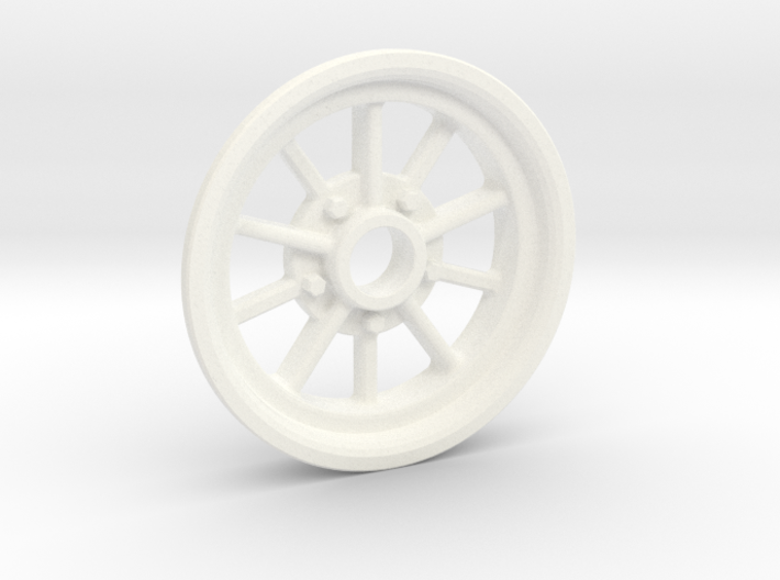 1:8 10 Spoke Spindle Mount 3d printed White Strong Polish