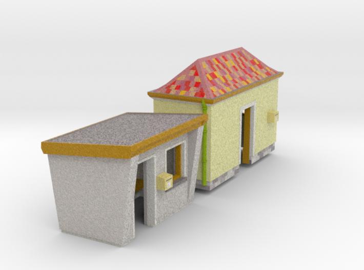 SET 2 Bus shelters (N 1:160) 3d printed