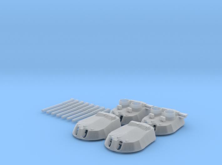 """1/350 15"""" MKI* HMS Warspite Guns 1942 x4 3d printed 1/350 15"""" MKI* HMS Warspite Guns 1942 x4"""