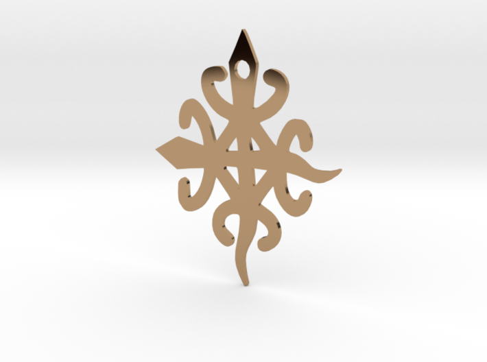 Adinkra Symbol for Unity in Diversity Pendant 3d printed