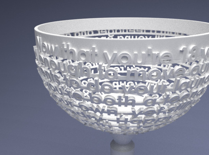 Customizable Birthday Chalice 3d printed Render of this specific design.